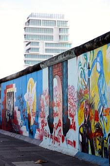 Berlin Wall, Wall, Graffiti, Berlin, East Side Gallery