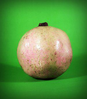 Pear, Asian, Nashi, Closeup, Isolated, Ripe, Natural
