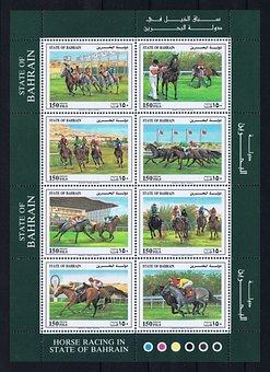 Bahrain, Postage Stamps, Golf, Block, Arab Emirates