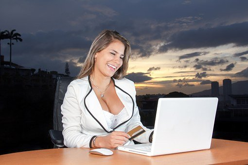 Business Woman, Woman, Attractive, Computer, Corporate