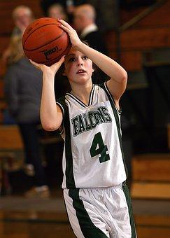 Basketball, Girls Basketball, Female, Girl, Sport, Ball