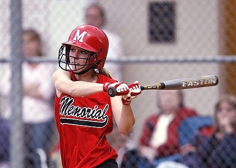 Softball, Player, Batter, Swinging, Action, Game
