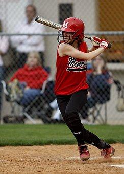 Softball, Batter, Female, Hitter, Swinging, Game