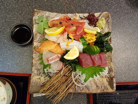 Japan, Food, Osaka, Sashimi, Raw Fish, Japanese