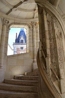 Staircase, Spiral Staircase, Château De Blois