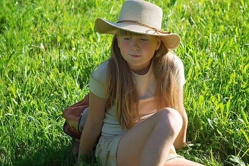 Person, Human, Girl, Hiking, Summer, Late Summer, Break