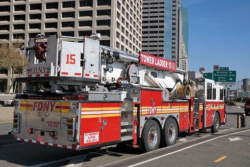 Fire, New York, Usa, Manhattan