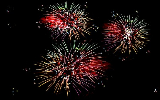 Fireworks, New Year's Day, New Year's Eve, Colors