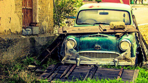 Old Car, Wreck, Rusty, Broken, Abandoned, Damaged