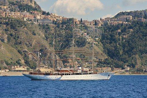 Sicily, Sailing Boat, Italy, Holiday, Water, Nature