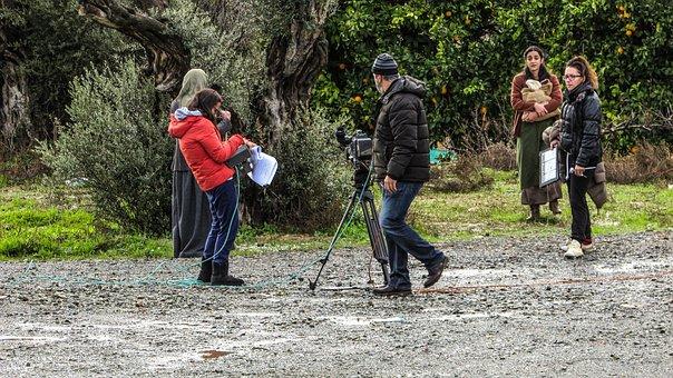 Film Crew, Shooting Film, Movie, Shooting, Cameraman