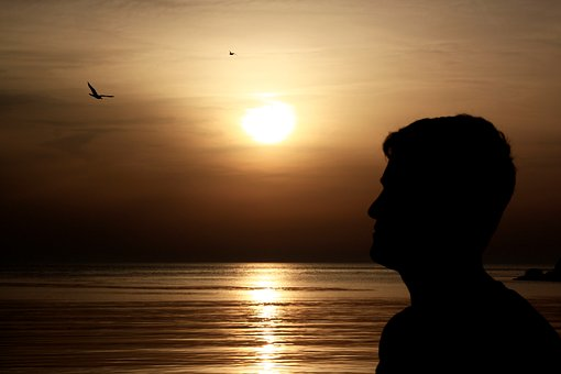 Portrait, Sunset, Human, Solar, Silhouette, Marine