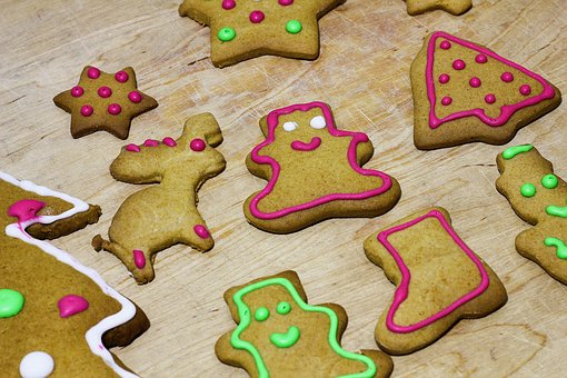 Christmas, Gingerbread, Cake, Embellish, Holidays