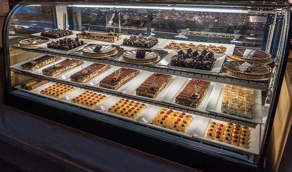 Dessert Case, Chocolate, Food, Gourmet, Sweets, Bakery