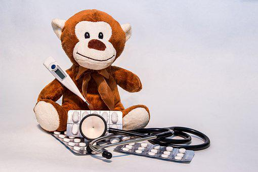 Ill, Get Well Soon, Stuffed Animal, Teddy, Recovery