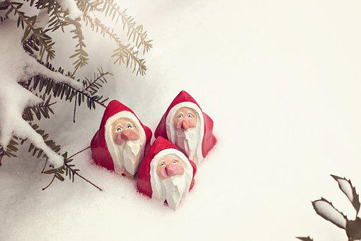 Santa, Christmas, Claus, Holiday, Winter, Red, Hat