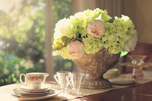 Table Setting, Vintage Dishes, Vintage China, Flowers