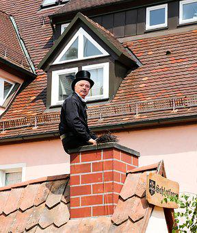 Chimney Sweep, Cylinder, Suit, Fireplace, Black, Luck