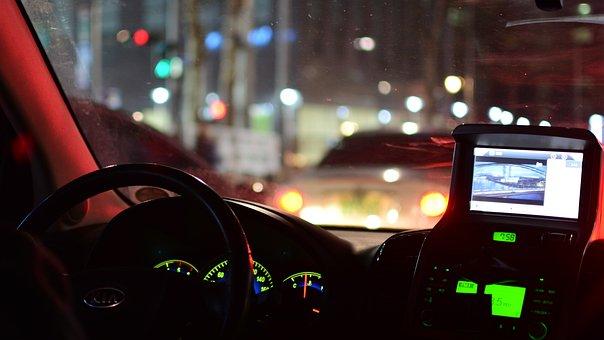 Tea, Driving, Night View, Night, Light, Nightlife, Road