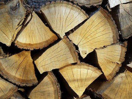Wood, Prism, Stump, Ripped Firewood, Fuel, Pattern