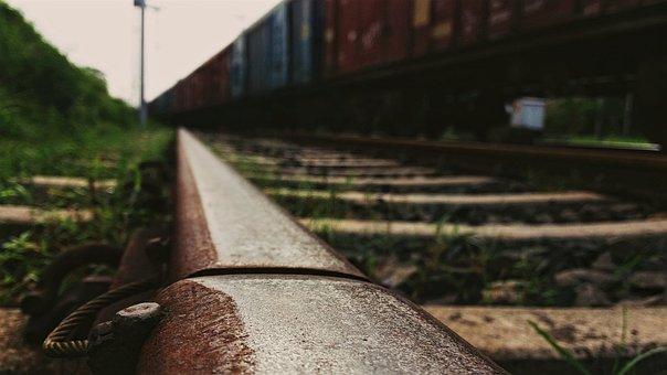 Track, Train, Bokeh, Perspective, Transportation