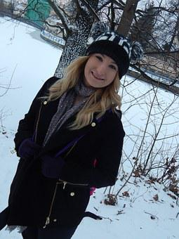 Winter, Barbora, Smile, Park