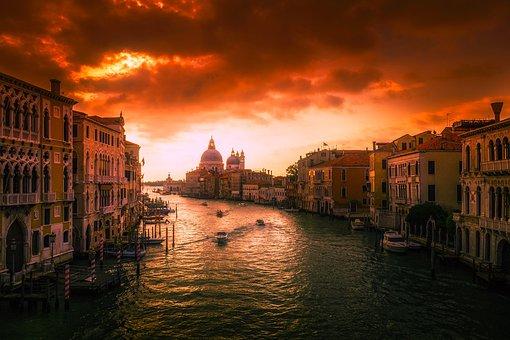 Venice, Italy, City, Urban, Tourism, Gondola, Venetian