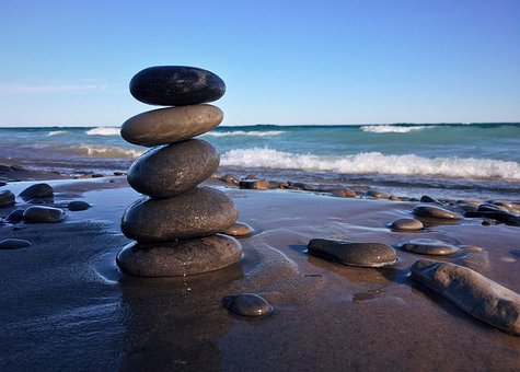 Rocks, Stacked, Balance, Beach Shore