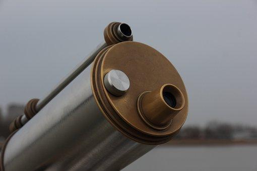Belgium, Antwerp, Coin, Operated, Telescope, Viewer