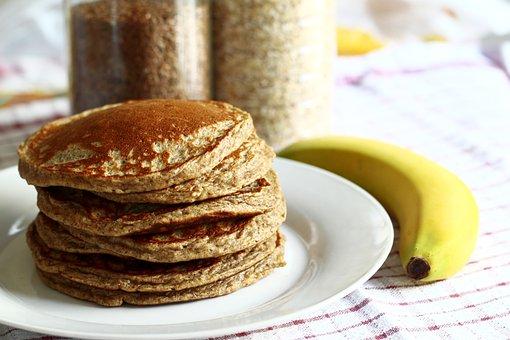 Pancakes, Banana, Breakfast, Food, Dessert, Sweet, Meal