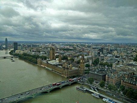 London Eye, View, Big Ben, England, Landmark