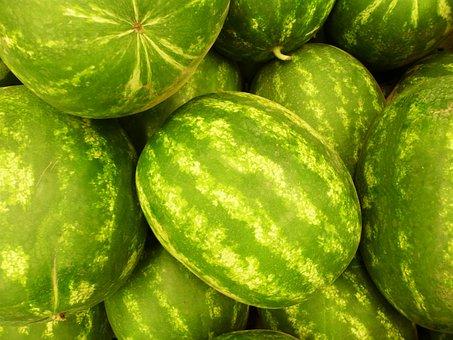 Fruit, Green, Watermelon, Summer, Vitamin