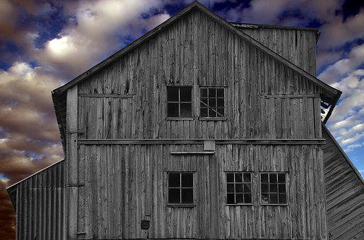 Home, Vacation, Building, Hut, Blue, Grey, Grey Blue