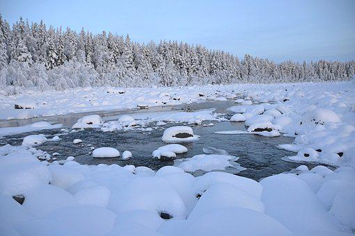 Winter, Lapland, Sweden, Wintry, Icy