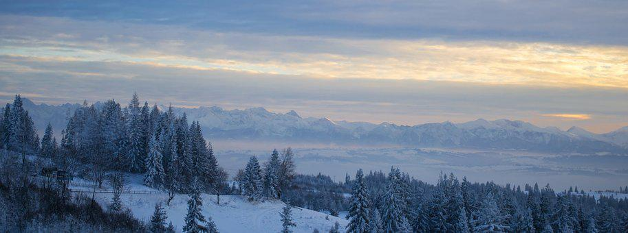 Mountains, Buried, Tatry, Top View, Landscape