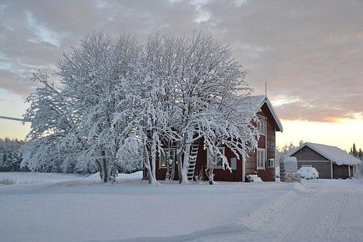 Lapland, Sweden, Snow, Landscape, Winter