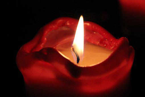 Christmas, Candle, Candlelight, Red, Light, Wick