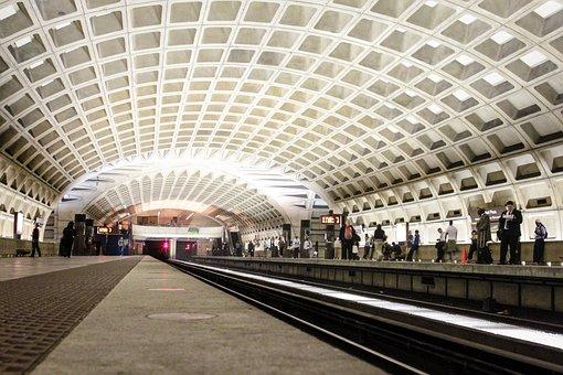 Metro Station, Train, Metro, Station, Transportation