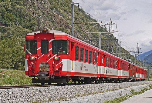 Matterhorn-gotthard-bahn, Mgb, Tax Car, Regional Train