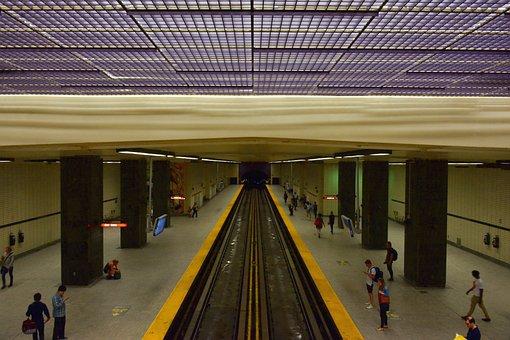 Metro, Sherbrooke, Montréal, Underground, Rails