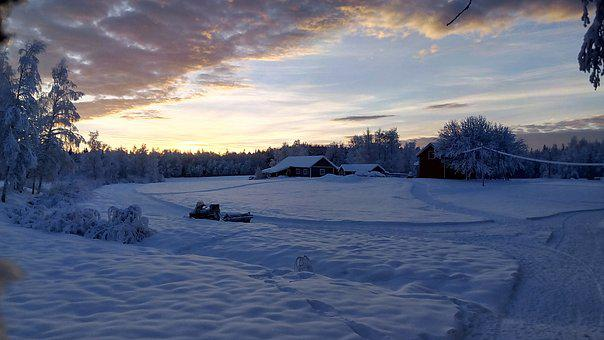 Winter Mood, Snow Landscape, Winter Magic, Sunset