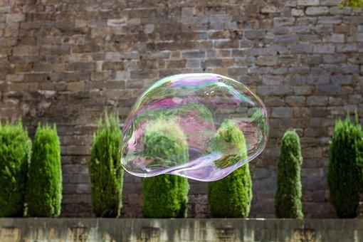 Soap Bubble, Bubble, Soapbubble, Fly, Float, Iridescent