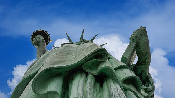 Statue Of Liberty, Clouds