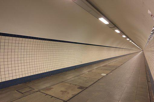 Belgium, Antwerp, Pedestrian, Tunnel, Schelde, River