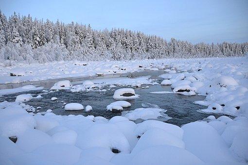 Winter, Lapland, Sweden, Wintry, Icy