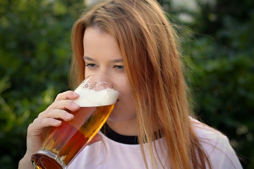 Woman, Beer, Toast, Young, Brasserie, Lady, Girl