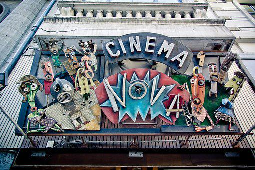 Cinema Nova, Brussels, Cinema, Cinema Sign, Figures