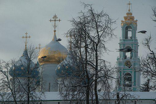 Russia, Monastery, Sergey Posad, Bell Tower, Cupolas