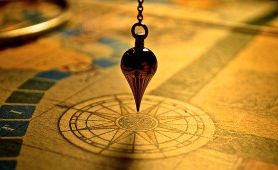 Pendulum, Map, Compass, Yellow, Guide, Path