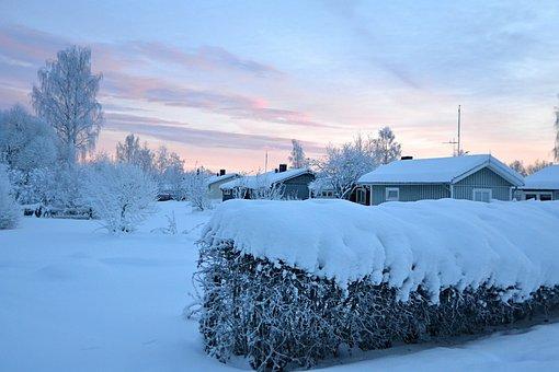 Lapland, Sweden, Wintry, Snow